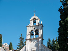 Christian Church Bell Tower Side View