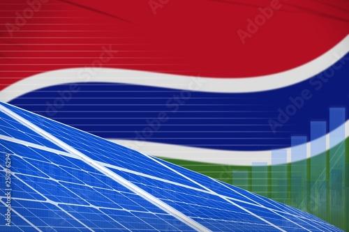 Fotografiet  Gambia solar energy power digital graph concept - modern natural energy industrial illustration