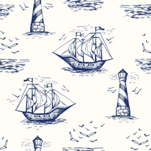 Vintage Hand-Drawn Nautical To...