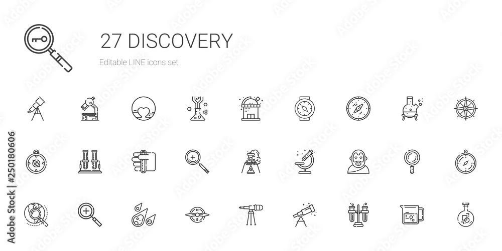 Fototapety, obrazy: discovery icons set