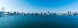 (東京都-風景パノラマ)レインボーブリッジから晴海埠頭までの風景1