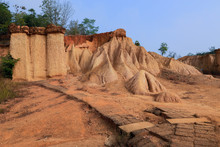 Pae Muang Pee Park,mountain Sand And Rock At Phae Mueang Phi In Phrae,Thailand