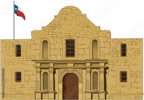 Alamo Vector Illustration Canvas Print