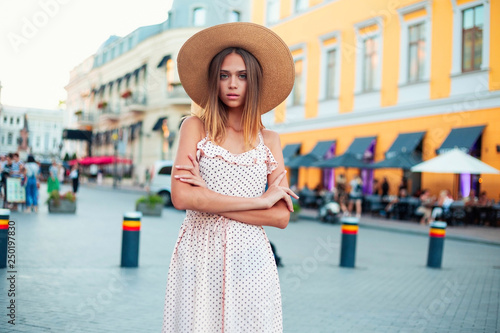 Sunny Lifestyle Fashion Portrait Of Young Stylish Hipster