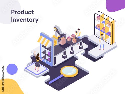 Product Inventory Isometric Illustration  Modern flat design