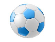 Blue Football Ball