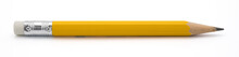 Yellow Pencil Isoalted On Whit...