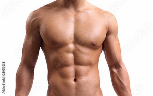 Obraz na płótnie strong torso of a young man