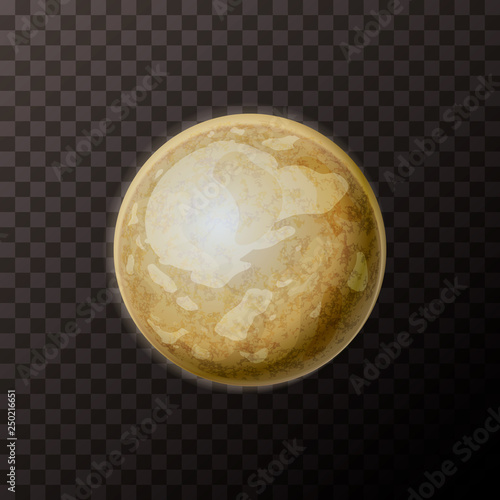 Photo  Realistic Pluto planet with texture on transparent background