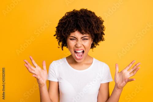 Fotografie, Obraz  Close-up portrait of her she nice attractive miserable desperate nervous mad fru