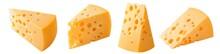 Set Of Triangular Cheese Piece...
