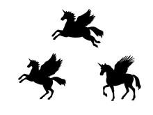 Pegasus Unicorn Silhouette Myt...