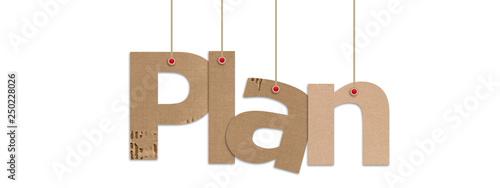 Obraz plan text in white background - fototapety do salonu