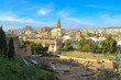 panoramic view of malaga spain from the amphitheatre on the cathedral