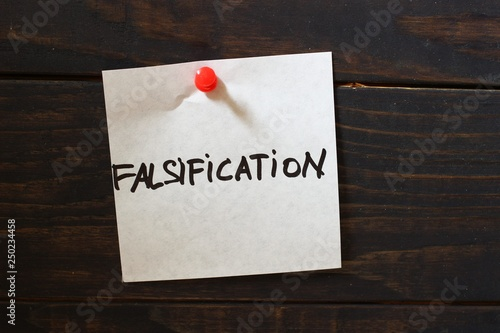 Fotografering  Sticker and word falsification