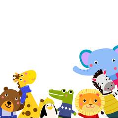 Obraz na płótnie Canvas group of cute animals