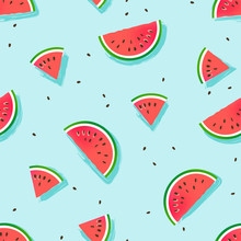 Watermelon Slices Vector Patte...