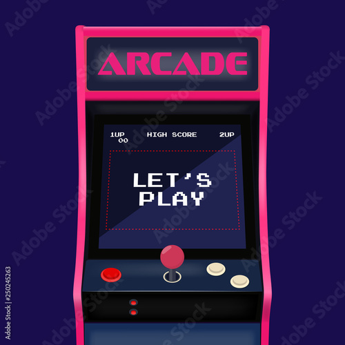 Foto Retro arcade game machine