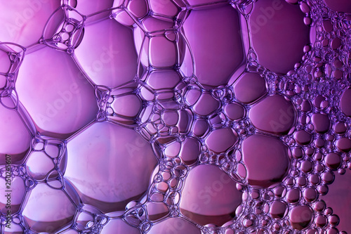 Fotobehang Macrofotografie abstract background of colored bubbles