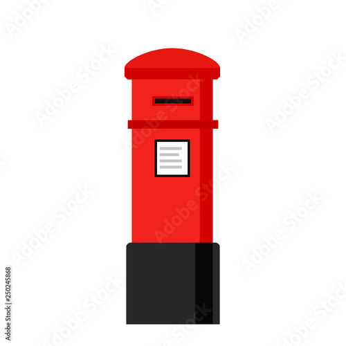 London letterbox icon. Clipart image isolated on white background Wallpaper Mural