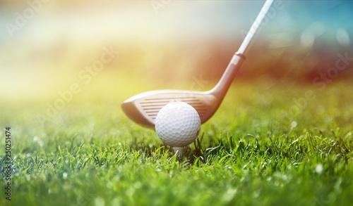 Türaufkleber Makrofotografie Golf.