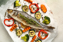 Tasty Cooked Seabass Fish And ...