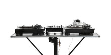 Modern DJ Mixer On White Background