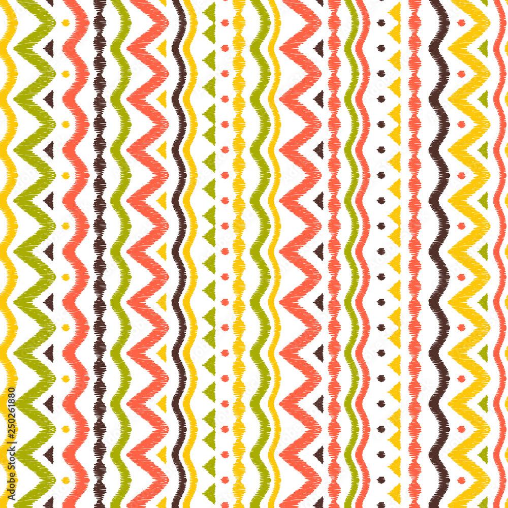 Ikat geometric folklore pattern.