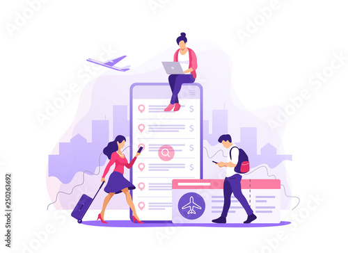 Fényképezés  Flight tickets online booking concept