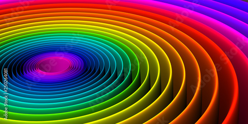 фотография  Colorful abstract spiral pattern background