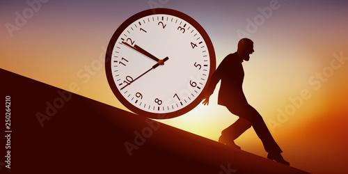 TEMPS - Horloge Homme Canvas Print