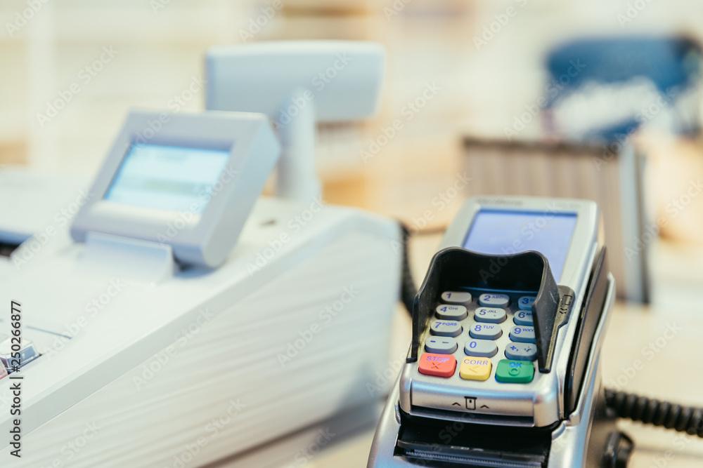 Fototapeta Cash register in a store, sales