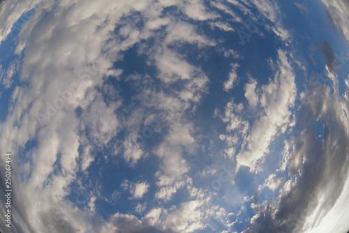 Cuadros en Lienzo Sky photographed on fish eye