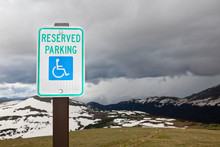 Handicap Parking Sign At A National Park