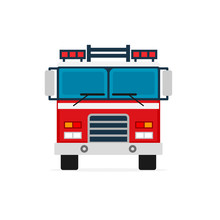 Firetruck Front View Icon. Cli...