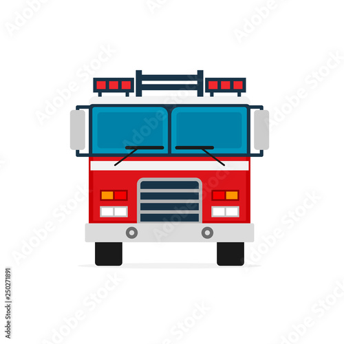 Photo Firetruck front view icon
