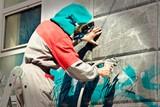 Fototapeta Młodzieżowe - Graffiti remover