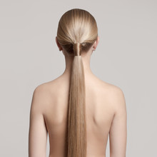 Woman With A Hair Tail. Back V...