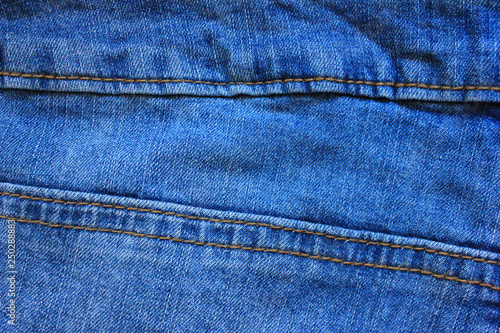 49c335546d0 Blue Jeans Detail with Seam Close Up Top View. Classic Fashion Denim Blue  Jeans Texture with Borders of Many Seams. Empty Dark Blue Denim Texture  Background ...