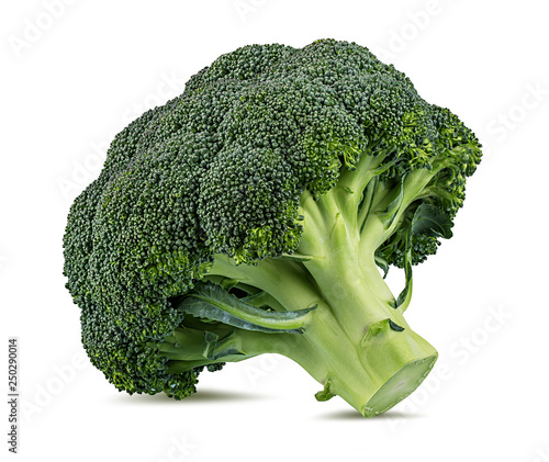 Fresh broccoli isolated on white background with clipping path Canvas Print