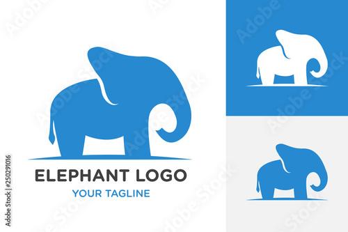 elephant icon logo, vector design - Vector Canvas Print