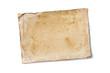 Leinwandbild Motiv Blank old yellowed paper mockup for vintage photo or postcard