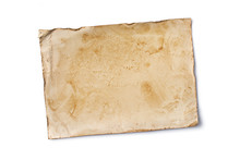 Blank Old Yellowed Paper Mockup For Vintage Photo Or Postcard