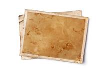 Blank Old Yellowed Paper Mocku...