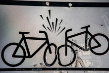 Sign With Two Bicycles Which B...