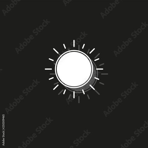 Fotografiet  sun sign icon, vector sunlight, bright sunny