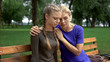 Caring mother supporting daughter, problems with first relationship, betrayal