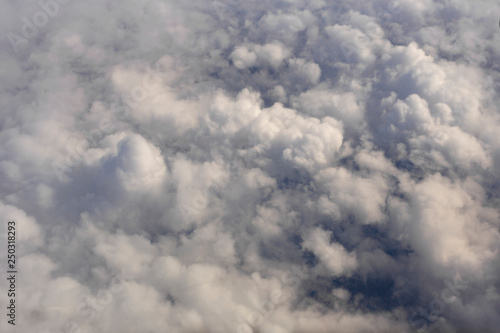 Fotografie, Obraz  Stratosphere, view of the earth through clouds