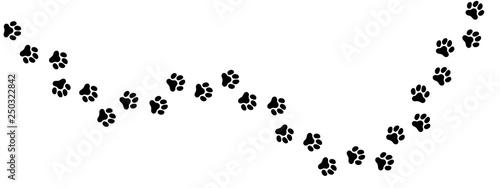 Fotografie, Obraz  犬の足跡 (Paw Prints of Dog. Vector Illustration)