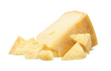 Parmesan Cheese Isolated On Wh...